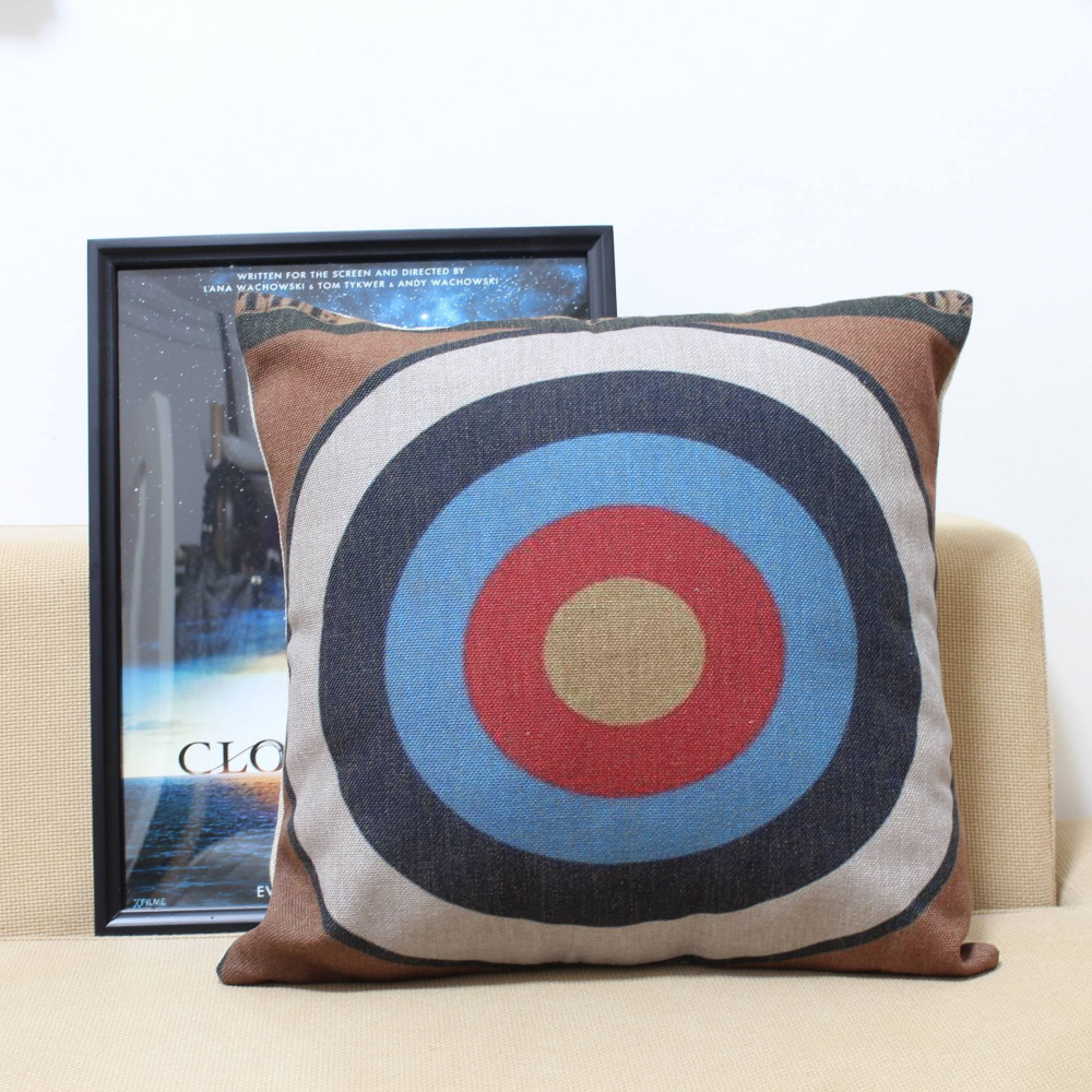 SELL Cute Style Pillow Cover Original Design Cushions Home Decor Shooting Target Decorative Pillow Covers Free Shipping(China (Mainland))