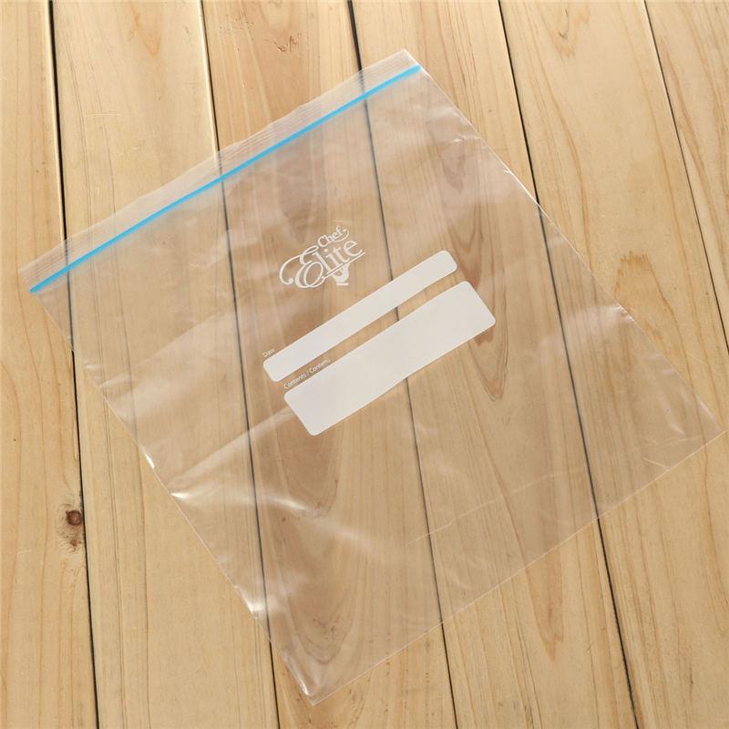 Best Price 1Box Plastic White Transparent Food Grip Sealer Bag Zipper Freezer Storage Kitchen 29.5X26cm(China (Mainland))
