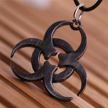 Free Shipping Movie Key Chain KeyChain  Biohazard Resident Evil alloy necklace pendant jewelry(China (Mainland))