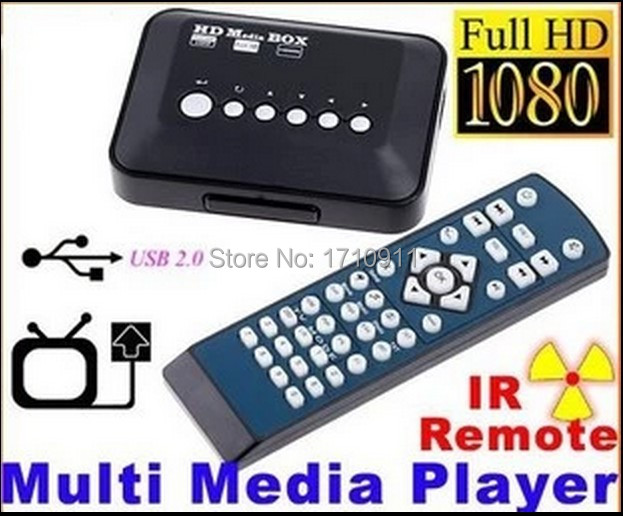 Multi Media Player HD 1080P Video YPbPr USB AV SDHC MKV RM RMVB AVI Y, Pb, Pr infrared remote USB memory card mobile hard disk(China (Mainland))