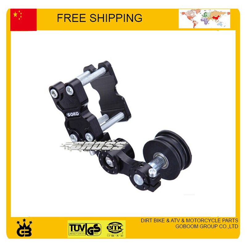 Aluminium Chain Tensioner 110cc 125cc 250cc motorcycle Dirt Pit Bike ATV ybr yzf crf parts accessories free shipping(China (Mainland))