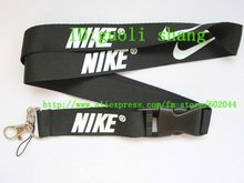 Free shipping Hot  10pcs black Sport Logo Lanyard for MP3/4 cell phone key  DS lite WHOLESALE(China (Mainland))