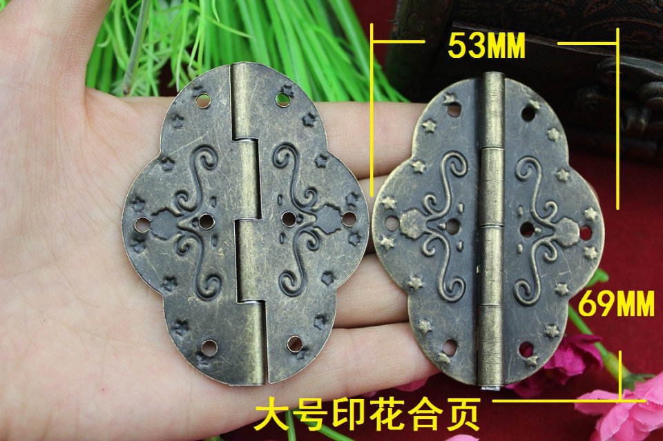 50Pcs 69 * 53MM hinge / antique hinge / printing hinge / hinge large oval tin<br><br>Aliexpress
