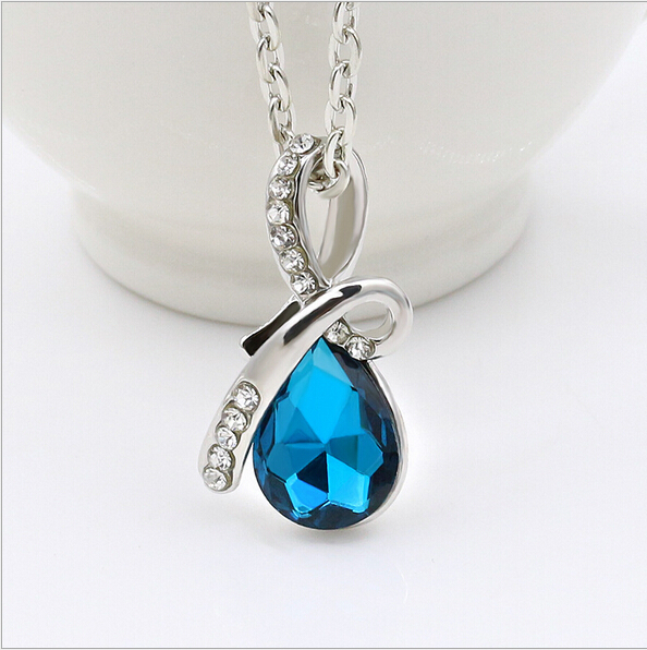 Angel Tears crystal fashion necklaces & pendants choker pendant women jewelry accesories for women gift chain necklace 2015 new(China (Mainland))