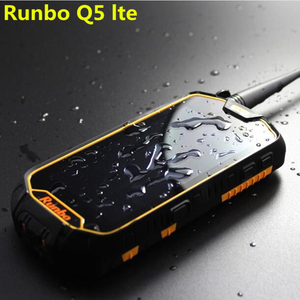 Original Runbo Q5 NFC PTT OTG IP67 2GB RAM 16GB waterproof phone Walkie talkie MTK6735 Android 5.1 IPS phone Cats50 x8 F1 X6 H1(China (Mainland))