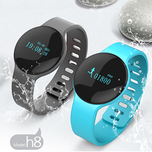 Bluetooth 4 Smart Wristband H8 Sport Bracelet Band with Pedometer Step Calories Count Intelligent Sleep Monitor Call SMS Remind