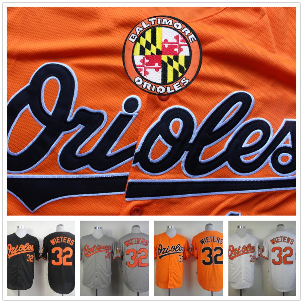 Matt Wieters Jersey,Cheap Baltimore Orioles 32# Baseball Jersey,Stitched Black Grey Orange White(China (Mainland))