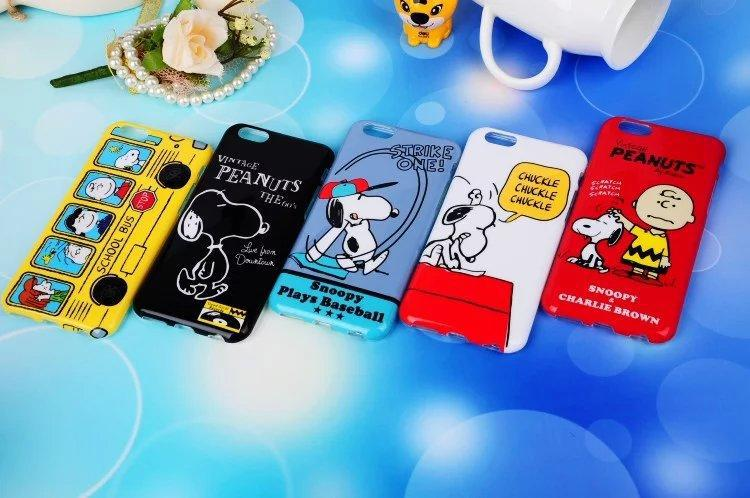 100pcs Hot Sale Cute Snoopie Cartoon TPU Soft Back Cover Case for Apple iPhone 6 6 plus with retail package DHL Free Shipping(China (Mainland))