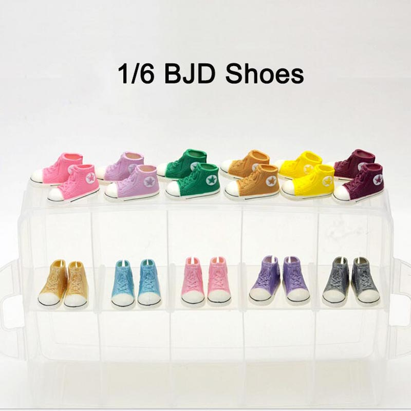 [LUCKY] 30Pairs/Lot Wholesale Colorful 1/6 BJD Shoes Joints Doll Accessories Shoes For BJD Doll<br><br>Aliexpress