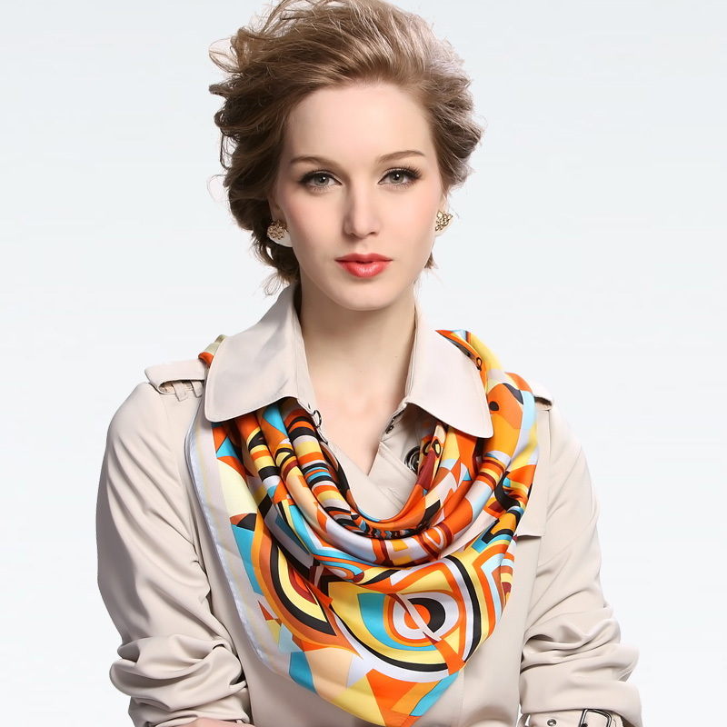 2015 new women's mulberry silk scarf square scarf 88*88cm gift ,free shipping(China (Mainland))