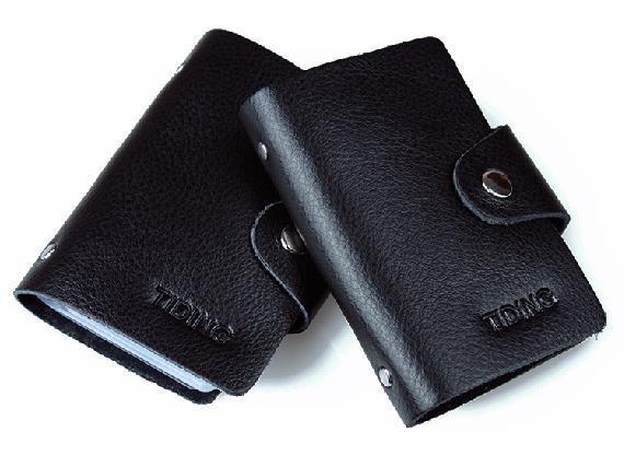TIDING Mens wallet credit card holder black business card holder genuine leather credit card holder 4002(China (Mainland))