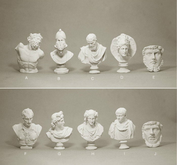 Small Plaster Cast Resin 6-7cm Mini Sketches Like Art Plaster Head 10PCS Collection Miniature Figurines Craft Home Decoration(China (Mainland))