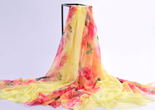 women scarf silk 2016 high-grade brand designer scarf chinese style chiffon shawl silk scarf women gauze veil beach towel-b139