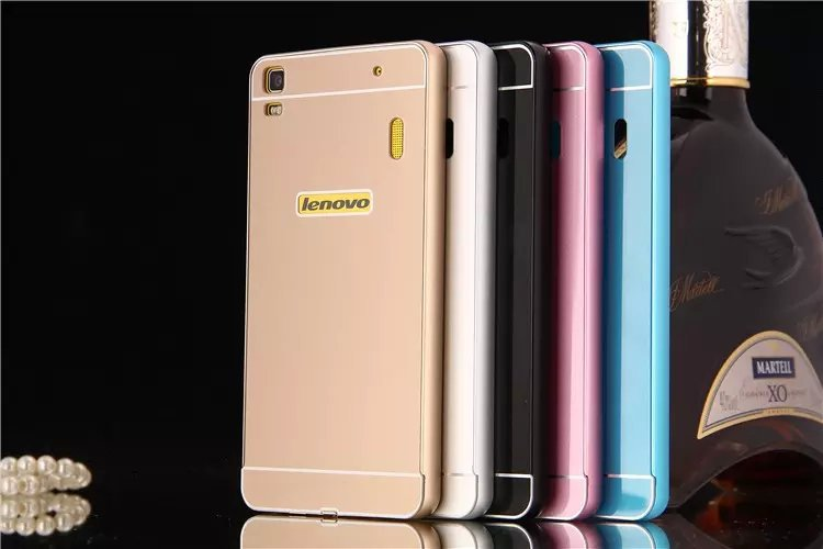 5 Colors Hot New Luxury Slim Aluminum Frame PC Back Cover Wholesale Protective Case For Lenovo K3 note A7000 Free shipping(China (Mainland))
