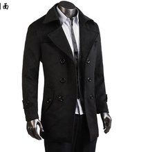 2013 male casual overcoat  slim outerwear for winter(China (Mainland))