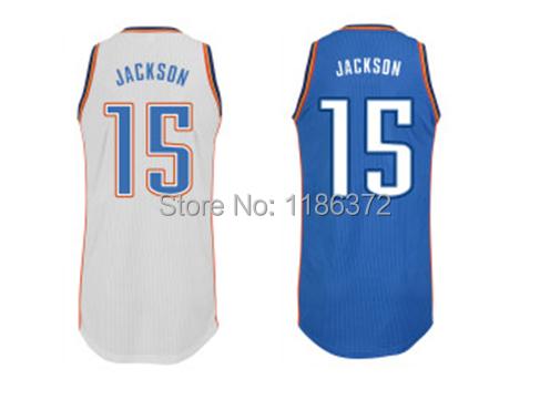 Free Shipping Cheap mens Adult kids Oklahoma City #15 Reggie Jackson Basketball Jersey Accept Dropp Shipping custom name number(China (Mainland))
