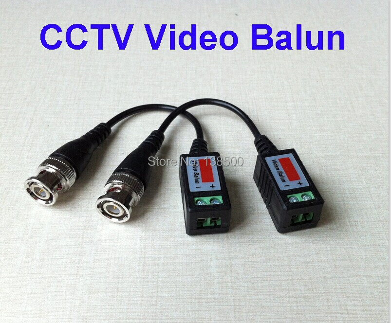 Free Shipping Wholesale 20pcs Packed 2 pair 1 Channel Passive Video Balun Transceiver BNC CCTV Connector CAT5 Cable(China (Mainland))