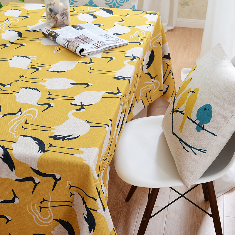 Nordic Style Modern Table Cloth Cotton Linen Ocean Animals Tablecloth Customize Table Cloth(China (Mainland))