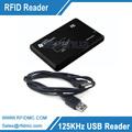 125khz Reader RFID EM4100 EM4200 Reader USB connector with 2pcs 125khz em4100 cards