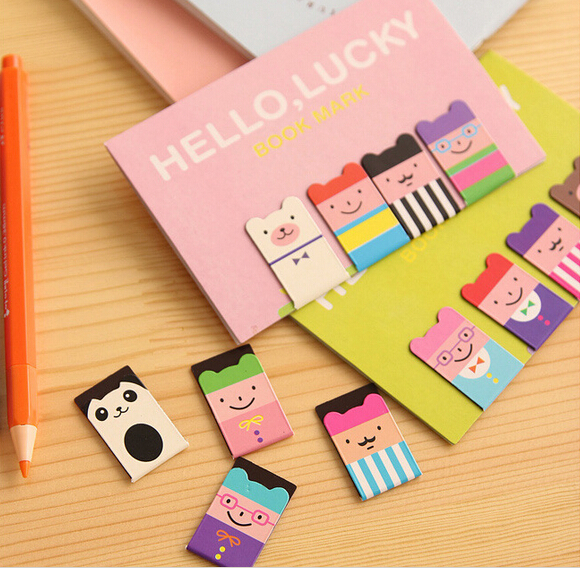 4 pcs/set Novelty Gift Kawaii Magnetic Bookmarks Books Marker of Page Marcador de Livro Stationery Paperclip Office Supplies(China (Mainland))