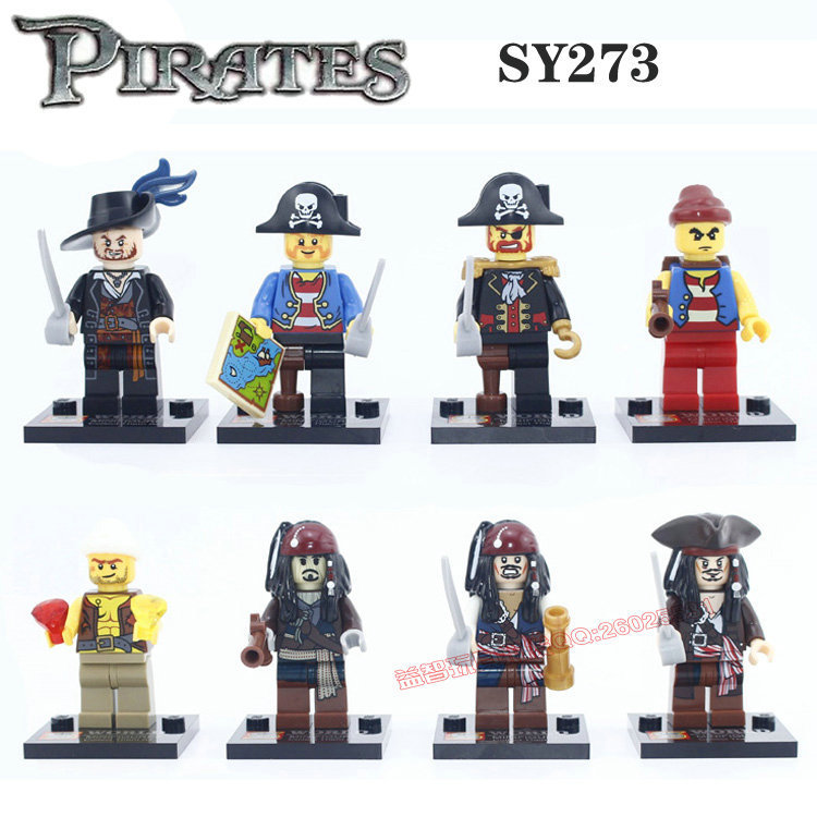 2016 Building Block Super Heroes Avengers Pirates Of The Caribbean Captain Jack Sparrow Davy Minifigures Compatible With Lego(China (Mainland))