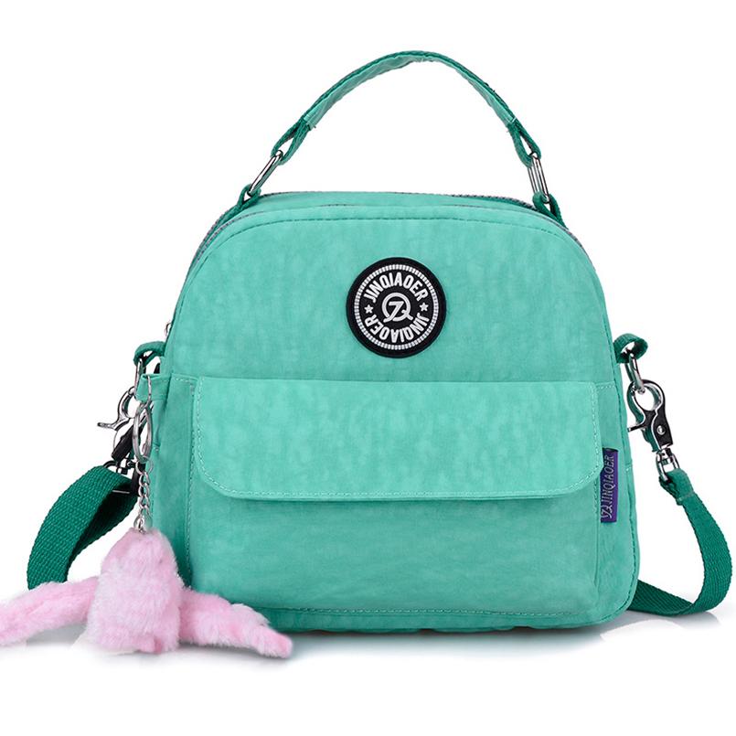 2016 Fashion Women Waterproof Nylon Handbags Cute Ladies Messenger Bag High Quality Lightweight and Cross Body Bag 10 Colors(China (Mainland))