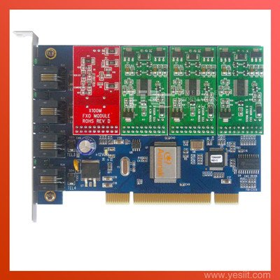 TDM400P 4 Ports with 1FXO & 3FXS modules  Asterisk card for VoIP IP PBX