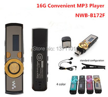 Wholesales!! New 16GB MP3 Player Popular 172 digital screen USB MP3 music Player With Clip 5 Colors Flash Drive  Free Shipping(China (Mainland))