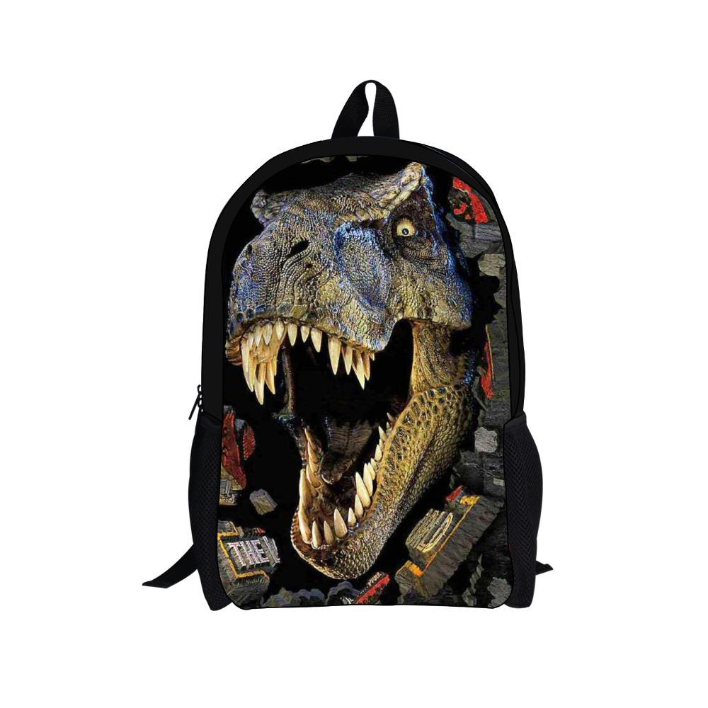 2015 3D zoo animals school bags for boys girls Cool dinosaur horse backpack children bookbag kids