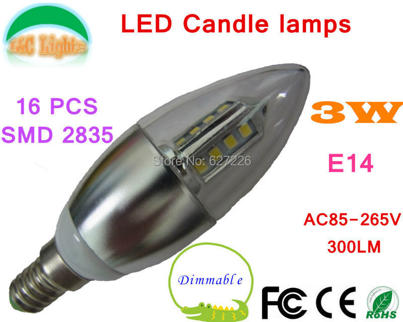Dimmable E14 3W 300LM SMD2835 Pear-shaped LED Candle Bulb Light,Home Lighting Warranty 3 Years,WW/NW/CW LED Blubs,10PCs a lot(China (Mainland))