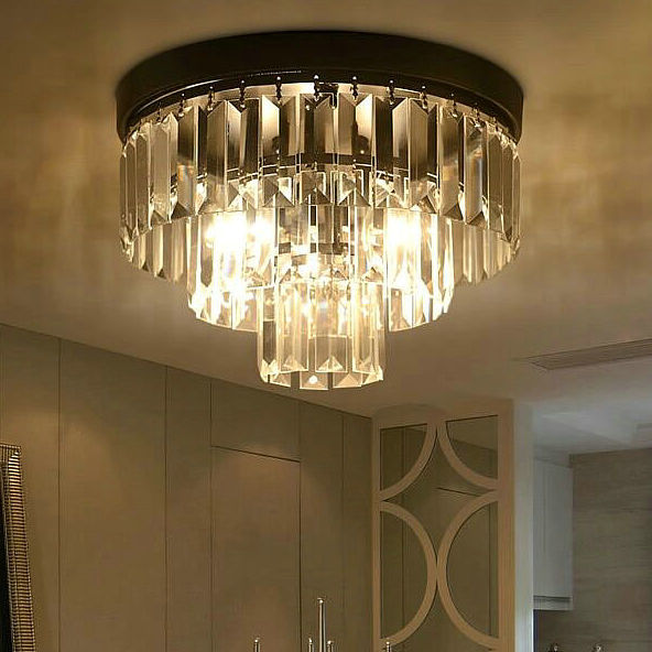 Luxury black color vintage k9 crystal ceiling light  Diameter 30cm  living room bed room lighting fixture <br><br>Aliexpress