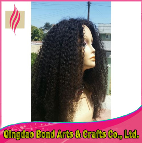Wholes factory price black women wigs brazilian virgin human hair kinky curly full lace wigs&lace front wigs free shipping