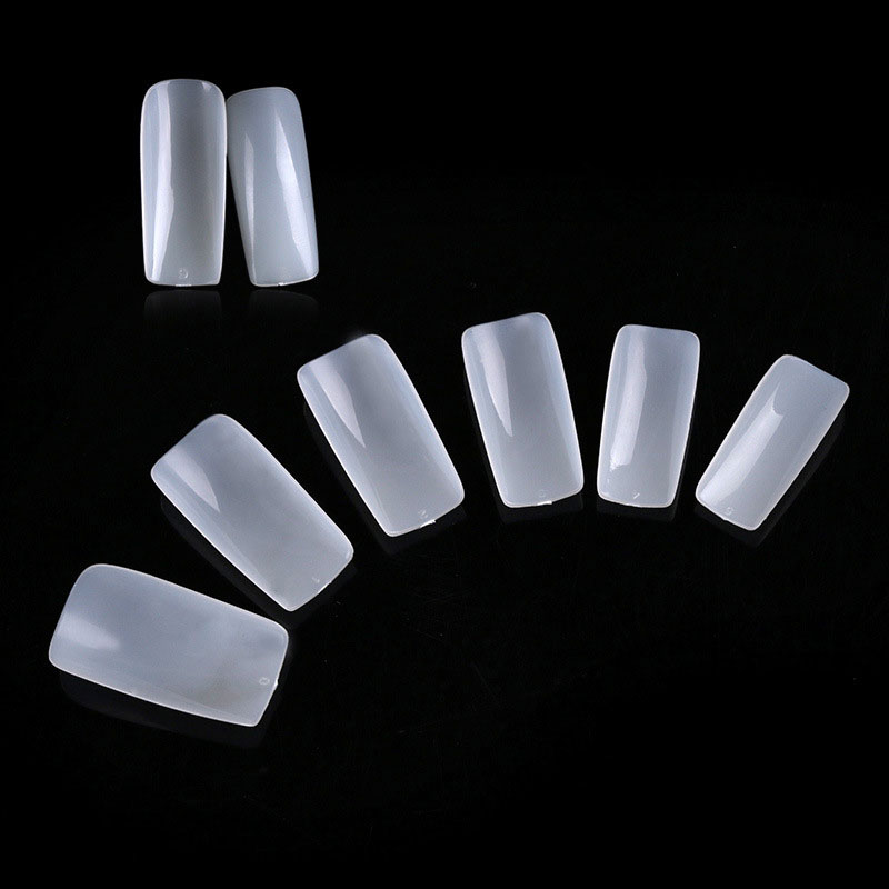 100PCS Full French Acrylic False Nails Artificial Nail Art Tips Decorations Salon Makeup Set Decorated Fake Nails Make Up Tools(China (Mainland))