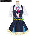 Woman Girl Dresses Kiznaiver Niko Niiyama Cosplay Costume Halloween Cosplay Uniforms Top Skirt Free Shipping