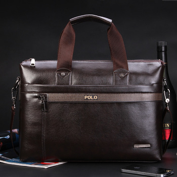 Free Shipping 2016 New men briefcase Fashion pu Leather Bags for Men famous brand POLO Men's Shoulder Bag Leather Messenger Bag
