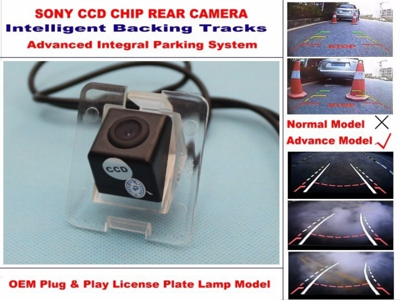 For Mercedes Benz GLK200 GLK220 GLK250 GLK320 GLK350 Smart Tracks Chip Camera HD CCD Intelligent Dynamic Rear View Camera (3)