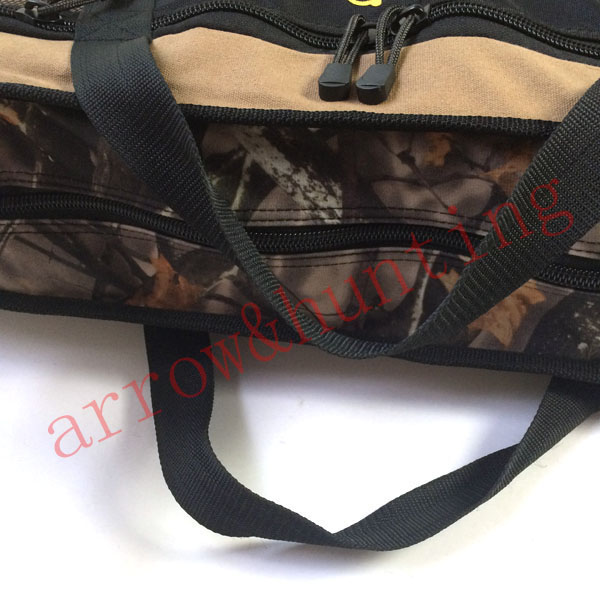 archery compound bow case to set hunting bow and carbon fiberglass or aluminum arrow camo compound