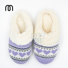 Winter cute love knitting patterns home warm cotton slippers plush floor drag at home slipper shoes woman 2013 free shipping(China (Mainland))