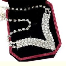 1003 rhinestone full rhinestone necklace sparkling chain earrings full rhinestone necklace formal dress the bride(China (Mainland))