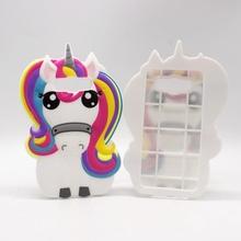 Silicone Case Samsung Galaxy S7 Edge J1 Ace J3 J5 J7 A5 A7 2016 Core Grand Prime 3D Horse Cartoon Unicorn Fundas Coque - xinkai workshop Store store