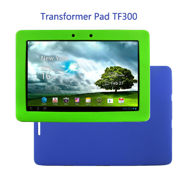 Original Ultra Slim Luxury Silicon Soft Cover Shell Rubber Smart Silicone Case For Asus Eee Pad Transformer Pad TF300TG TF300T(China (Mainland))