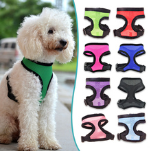 Best Selling Nylon Mesh Vest Harness for Dogs Puppy Cat Pets, Soft Air Chest Strap Leash Set Dog Harness, 13 Colors 5 Size XS-XL(China (Mainland))