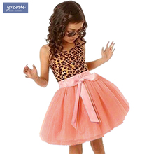 Buy Hot Summer Kids Girls Dress Leopard Cotton Girls Clothes Party Princess Dresses Vestidos Children Costume christmas Girl Dress for $5.69 in AliExpress store