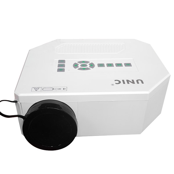 White Mini Portable LED Projector Home Theater 1080 HD PC HDMI VGA AV Micro USB SD For Iphone/Android 4.2 Above Phone /Tablet PC(China (Mainland))