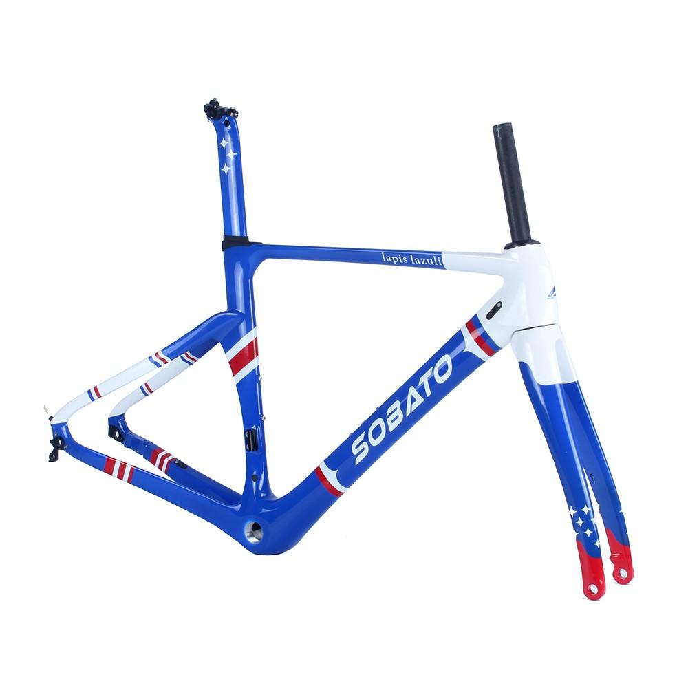 Hot Sale High Quality Disc Brake Carbon Road Bike Frame T700 Carbon Fiber Bike Frames Glossy Painting UD Finish(China (Mainland))