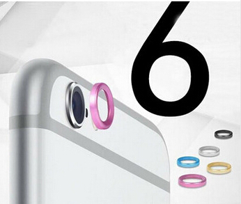 Rear Camera Metal Protective Ring for iPhone 6 4.7 Lens Circle Cover Case Bumper for iPhone 6 Plus 5.5 inch 5 Colors(China (Mainland))