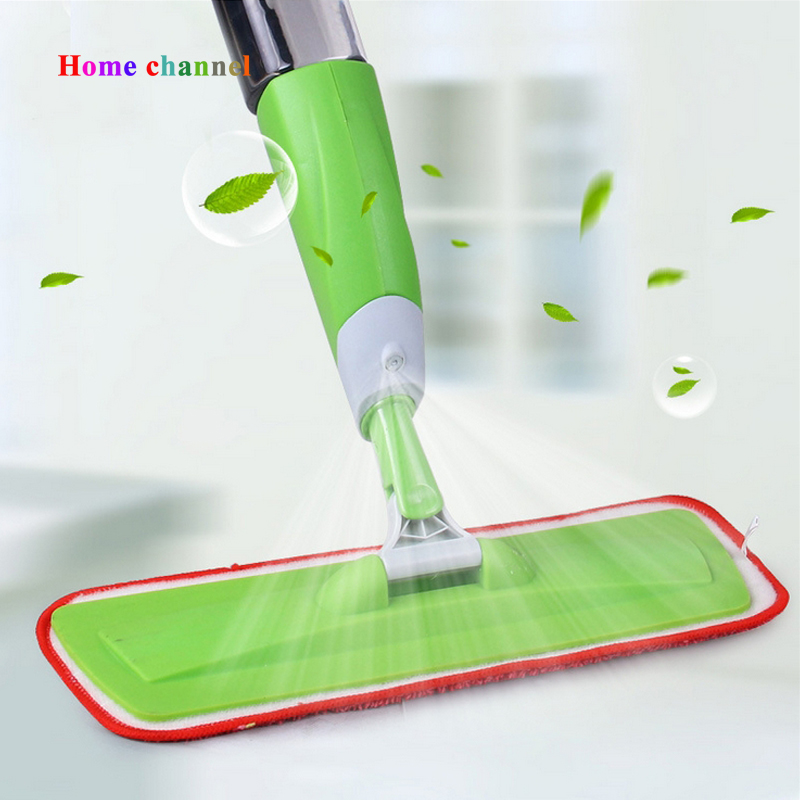 Spray mop for Flat Wood floor mop Hand wash mops Household Floor Cleaning Tools Aluminium Pole Microfiber(China (Mainland))