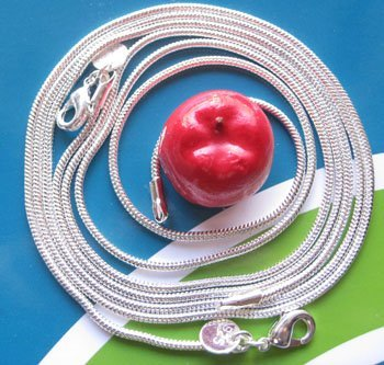 Wholesale 50pcs mixed  fashion jewelry 16-24inch long 1mm 925 silver necklace snake chain