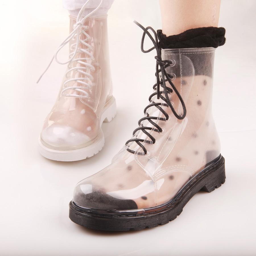 Clear Rain Boots Womens - Yu Boots
