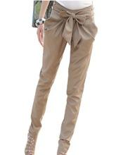 2015 Summer Style Casual Women Pants All-Match Fashion Bow Knot Elegant Harem Pants OL Woman Skinny Slim Long Pencil Trousers(China (Mainland))